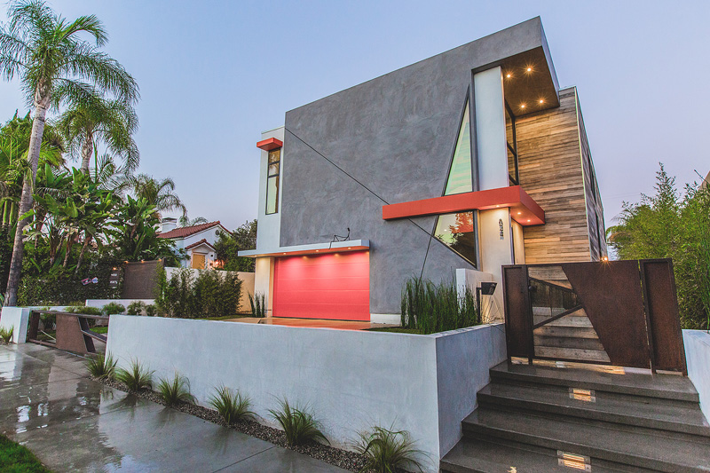 LA West Hollywood Modern Home Features Angular Lines and Geometric Styles