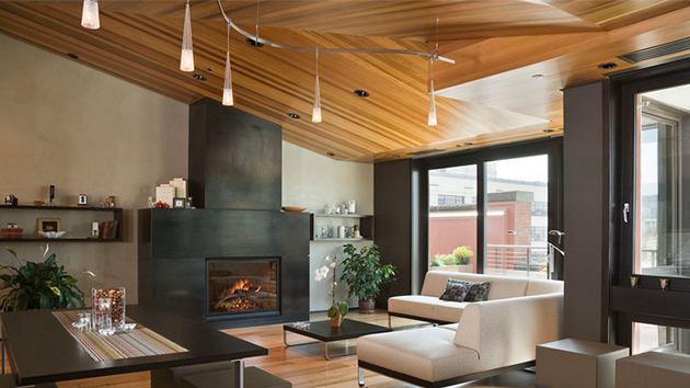 23 Living Rooms with Wooden Ceilings Exuding a Warm Aura  Home Design Lover
