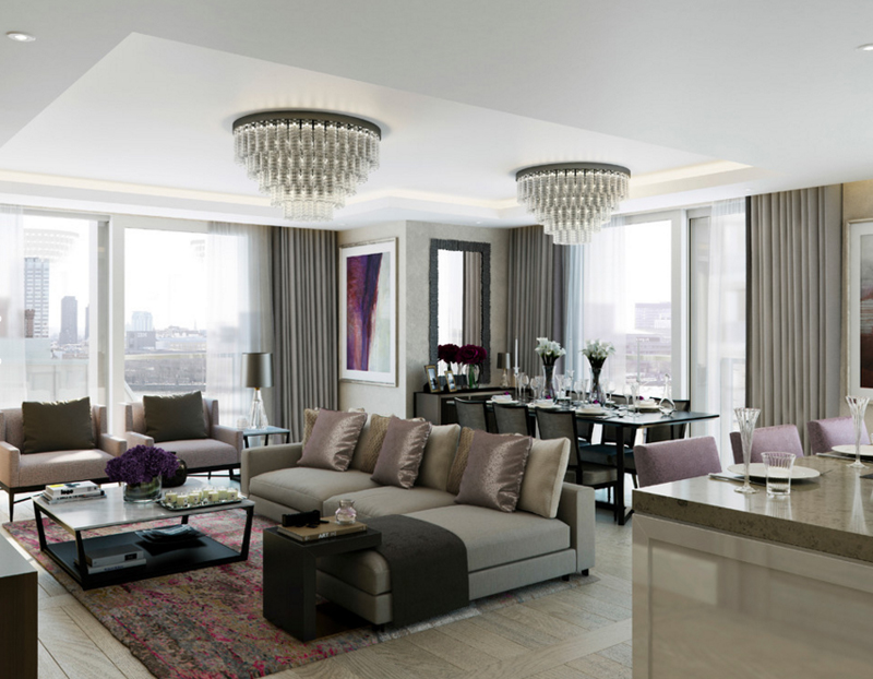 23 Stunning Crystal Chandeliers in the Living Room