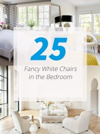 25 Fancy White Chairs in the Bedroom | Home Design Lover