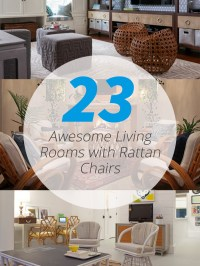 23 Awesome Living Rooms with Rattan Chairs | Home Design Lover
