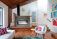 23 Double-Sided Fireplace Designs in the Living Room ...
