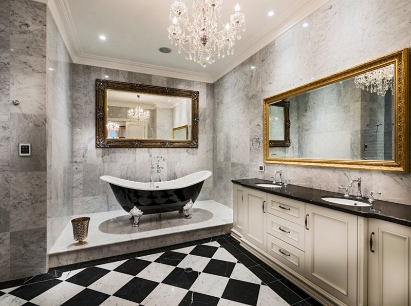 20 Gorgeous Bathroom Crystal Chandeliers  Home Design Lover