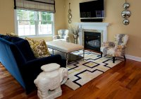 20 Appealing Living Rooms with Gold and Navy Accents ...