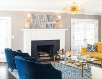 Yellow And Navy Living Room | www.pixshark.com - Images ...