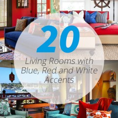 Red And White Living Room Modern Black Leather Sectional Furniture 20 Beautiful Rooms With Blue Accents Home
