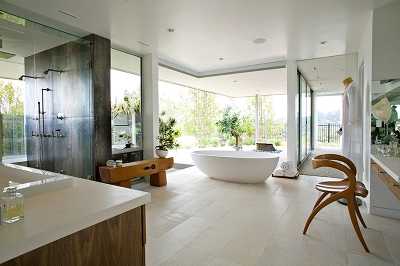 25 Bathrooms with FloortoCeiling Glass Windows  Home