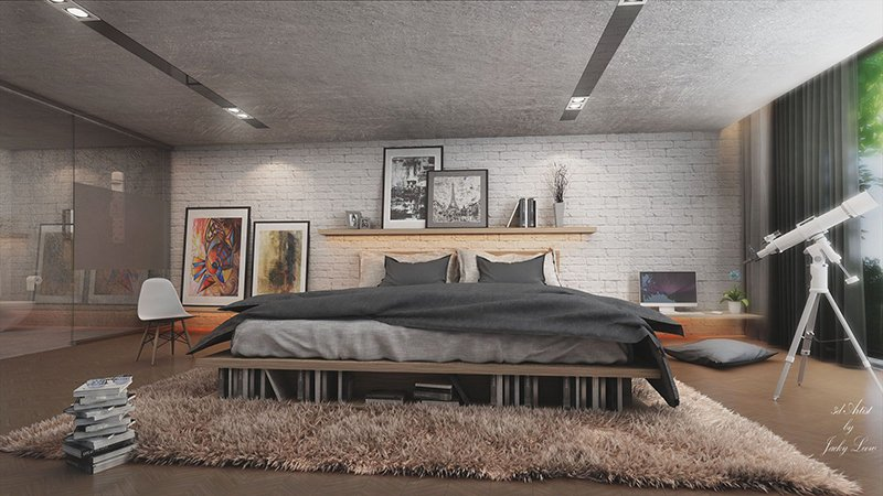 22 Mind Blowing LoftStyle Bedroom Designs  Home Design Lover