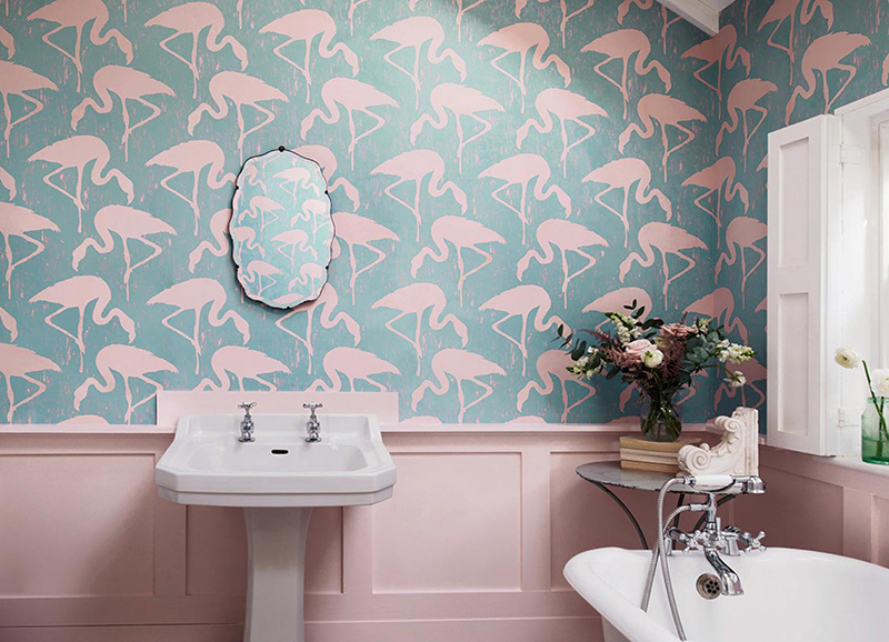 20 Designs Of Stylish Bathroom Wallpapers