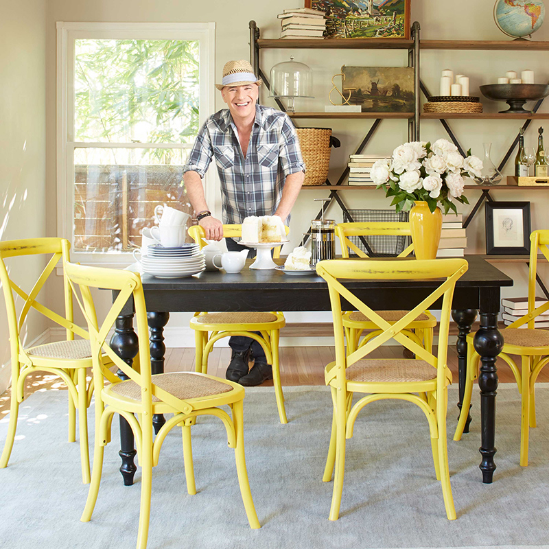 retro dining room table and chairs chair footstool 25 areas with yellow | home design lover