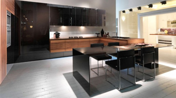 black and white wood kitchen design ideas 22 Kitchens in Black and Wooden Palette   Home Design Lover