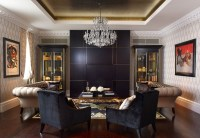 20 Knockout Black Accent Wall in the Living Room