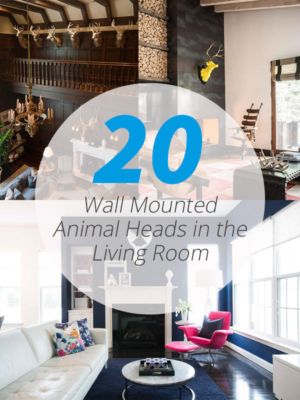 20 Wall Mounted Animal Heads in the Living Room  Home