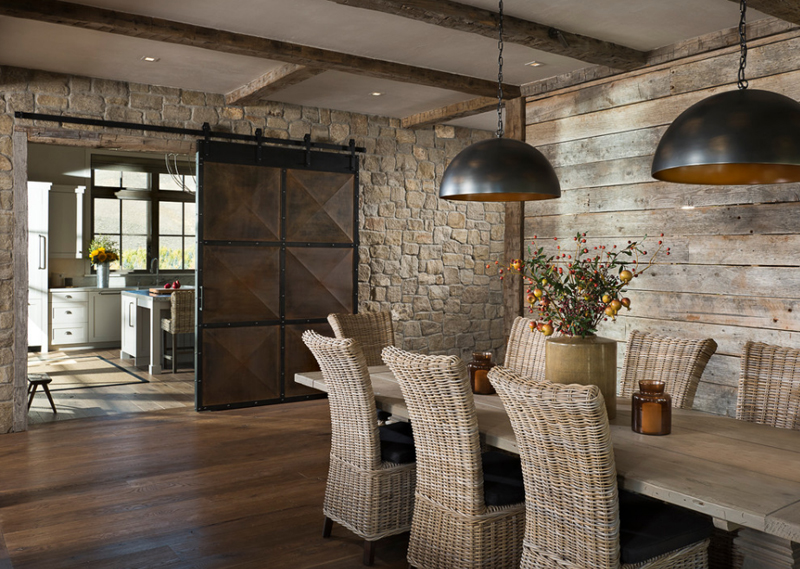 20 Splendid Dining Rooms with Wooden Sliding Doors  Home