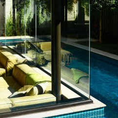 Mid Century Sofas Toronto Reception Sofa Canada Swimming Pool House Featuring A Sunken Living Room   Home ...