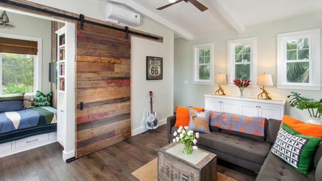 20 Lovely Wooden Sliding Doors in the Living Room  Home