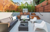 A Contemporary Backyard in Florida Features Multi-Levels ...