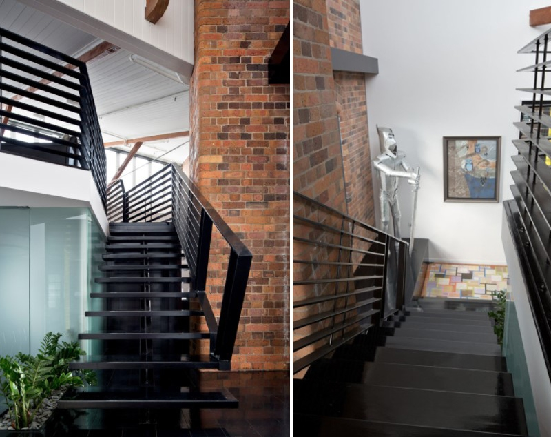 20 Beautiful And Bold Black Staircase Design Ideas Home Design Lover | Black Granite Staircase Designs | Marble | Polished Granite | Floor Stair Circular | Kota Stone Staircase | Jet Black