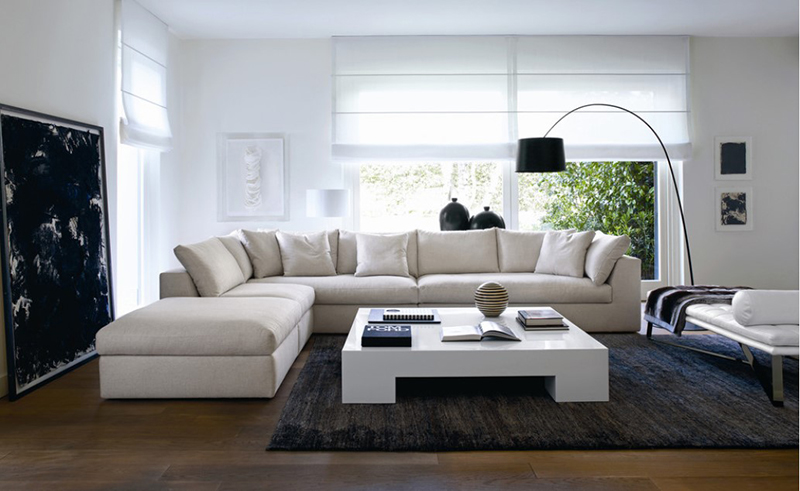 20 l shaped white sectional sofa in