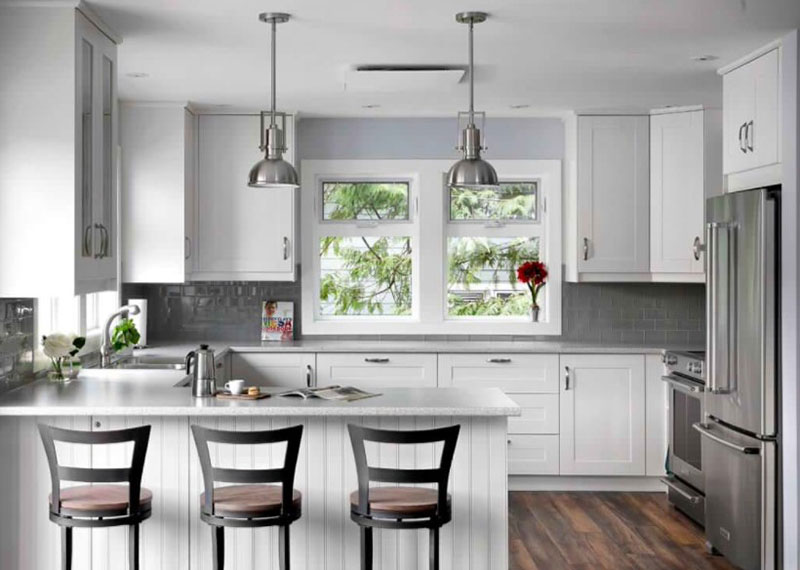 20 Remarkable White And Gray Kitchen Designs Home Design Lover