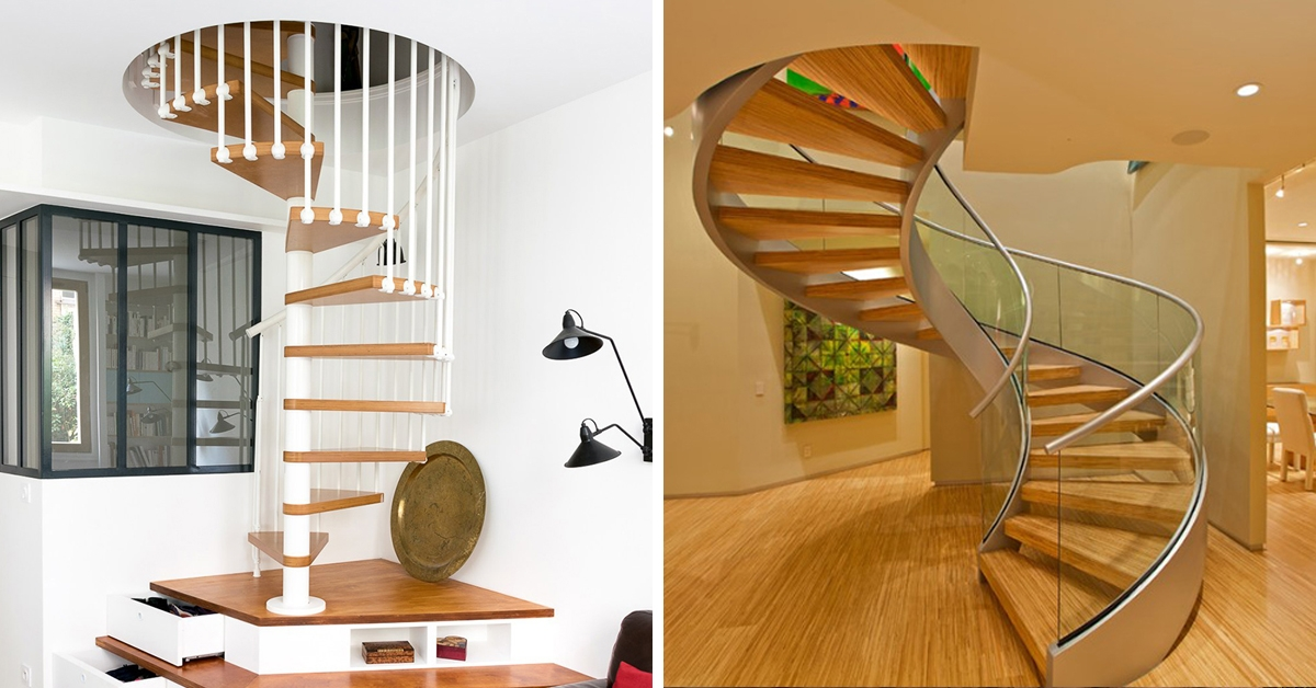 25 Modern Spiral Stairs That Will Bring A Stylish Flare To Your | Spiral Staircase 2 Floors | 8 Ft | Interesting | Spiral Shaped | Outdoor | Wooden