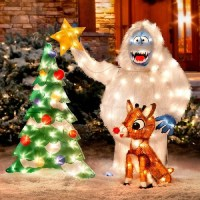 rudolph decorations - 28 images - 24 quot lighted tinsel ...