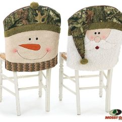 Chair Cover Christmas Decorations Kiddies Covers For Hire Holiday Pattern Home Designing Buy Mossy Oak Santa And Snowman Camouflage Back