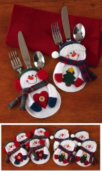 Adorable Christmas Silverware Holders | Home Designing
