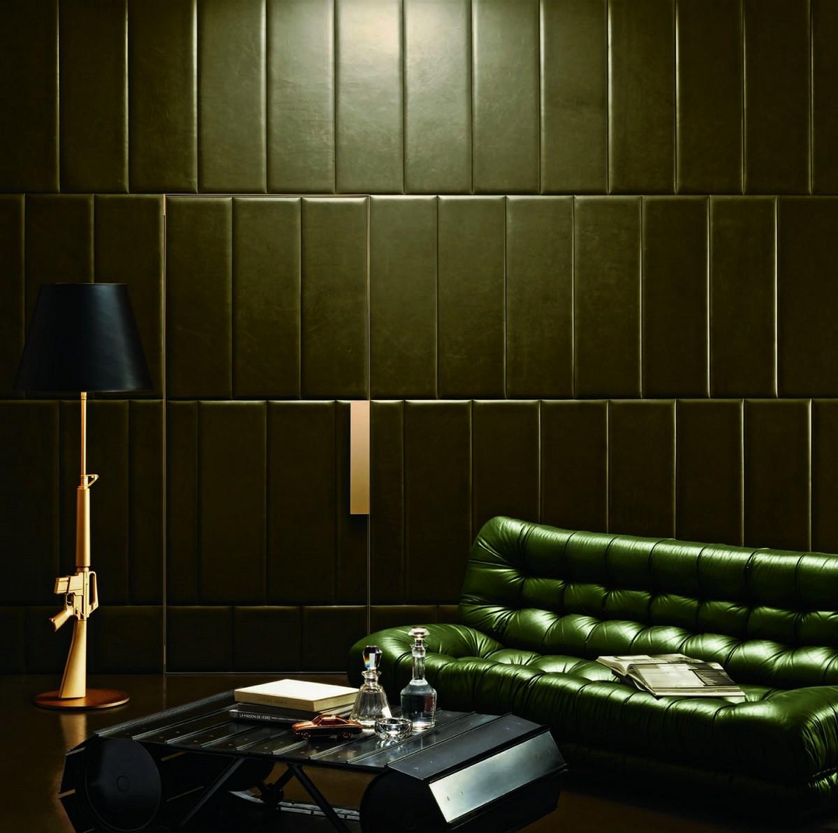 Elegant Leather Wall Patterns Home Designing