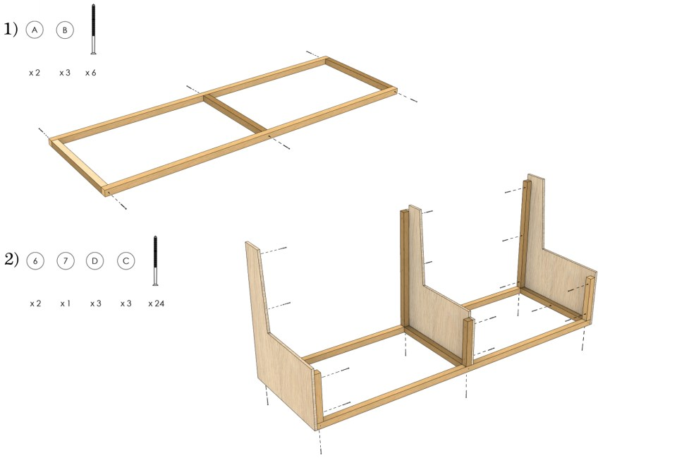 DIY Bench Assembly