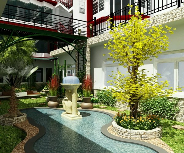 current and luxury garden design