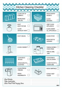 Kitchen Cleaning Checklist
