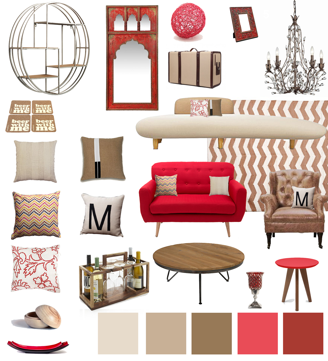 Red Living Room Accessories. gray and red living room