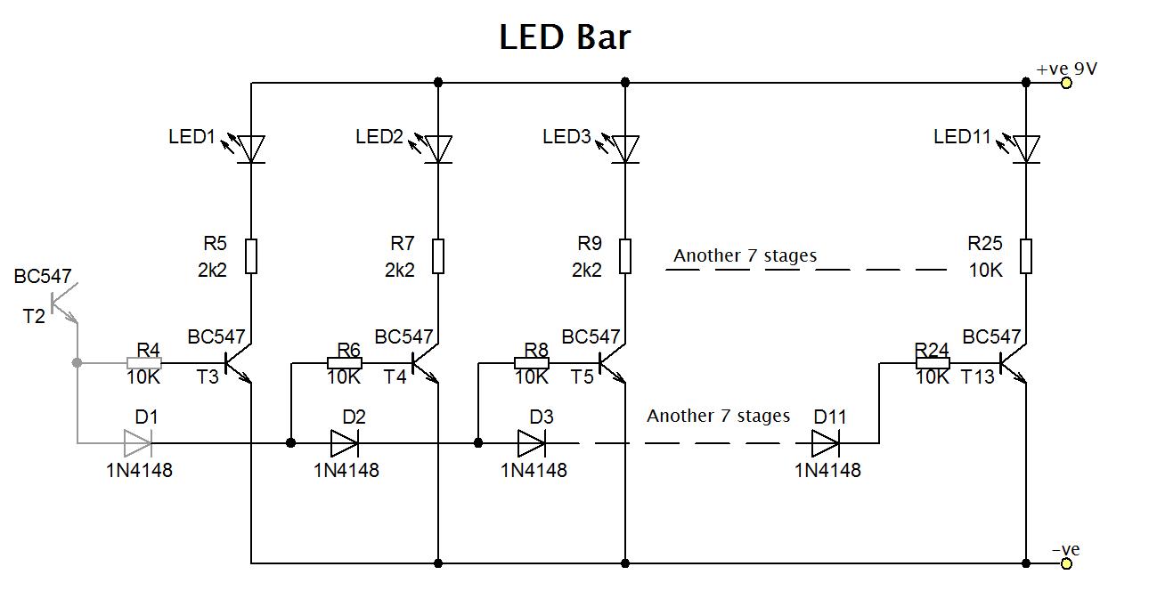 Led bargraph circuit diagram