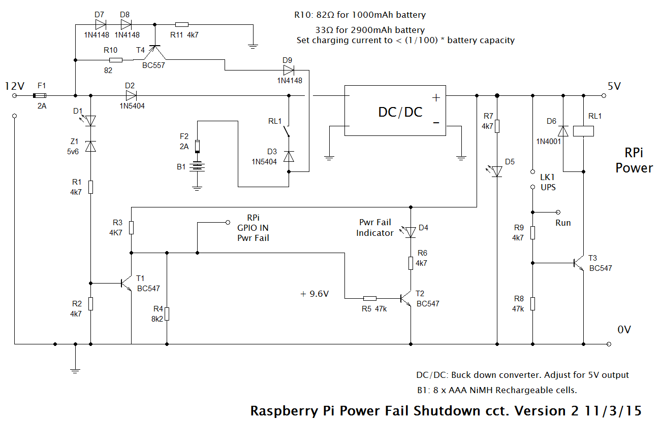 hight resolution of full ups circuit with safe shutdown