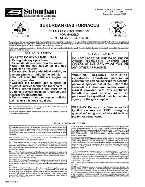 small resolution of suburban manufacturing company post office box 399 dayton tennessee 37321 certified suburban gas furnaces installation