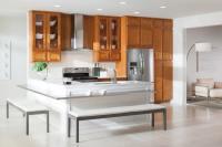 Kitchen Peninsula. Trendy Dazzling Kitchen Curved