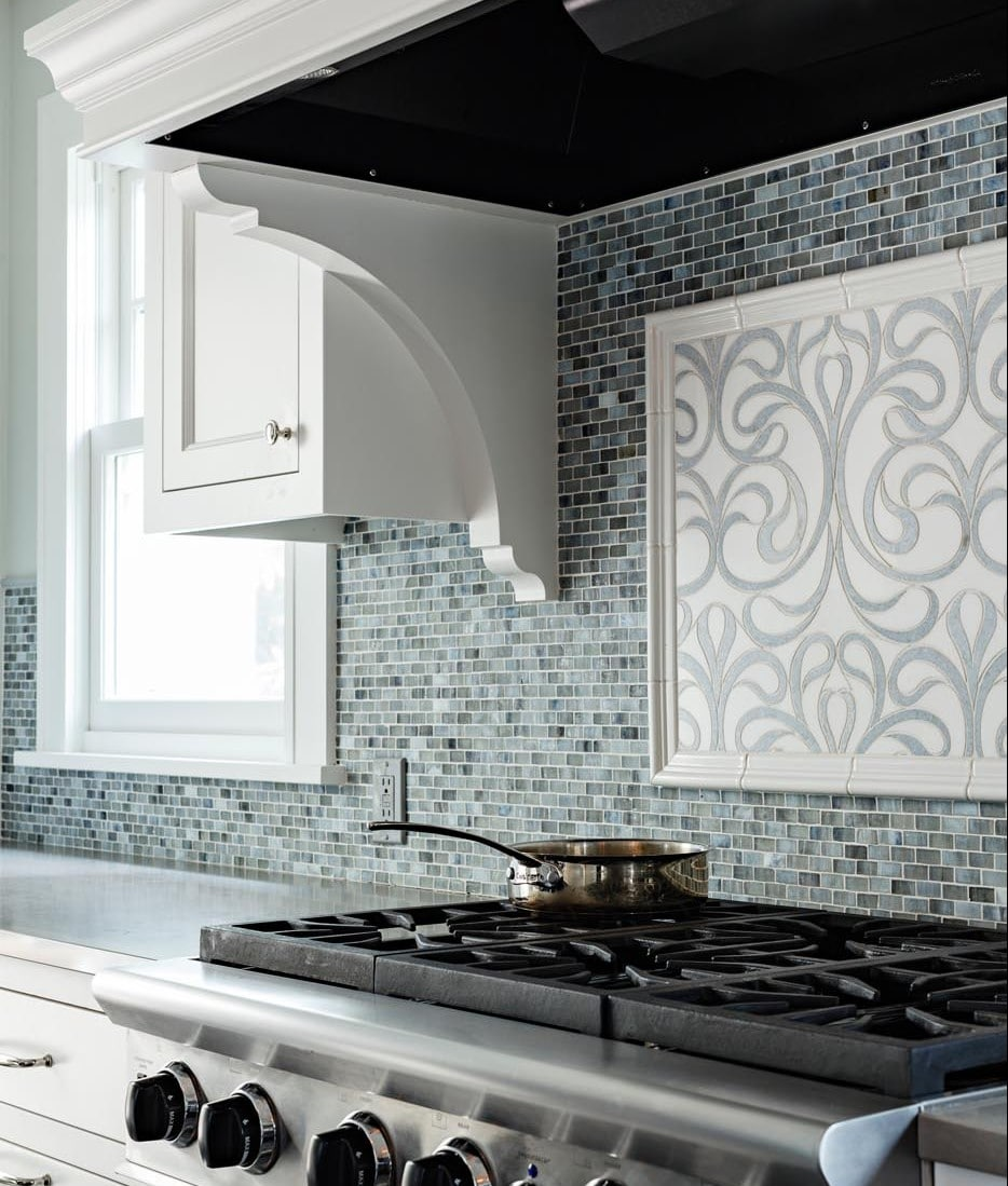 black and white tile kitchen backsplash showcase 27 designs - home dreamy