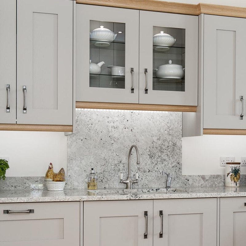 White Wave Backsplash