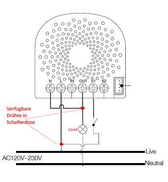 Wie Aeotec Nano Switch an 2-Draht Verkabelung schalten