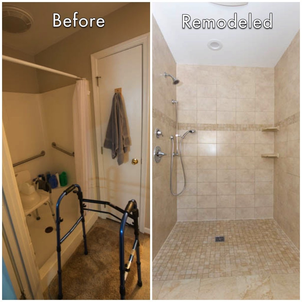 Bathroom Remodel  Before  After  Custom Home Elements