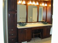 bathroom vanities with makeup area