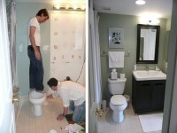 Small bathroom remodels before and after Photo