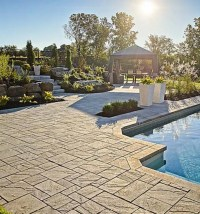Backyard designs with pavers Photo