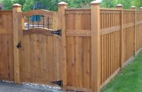 Backyard fence styles - large and beautiful photos. Photo ...