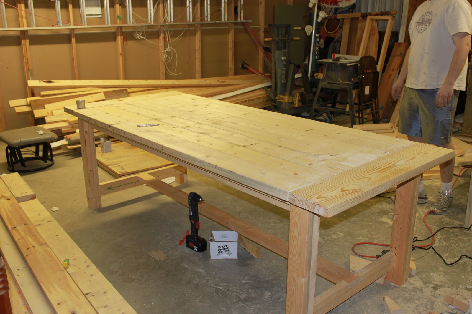 How To Build A Dining Room Table Plans  Large And