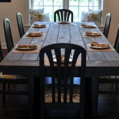 Diy Kitchen Tables Log Home Islands How To Make A Farmhouse Dining Table Large And Beautiful