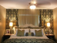 Wall to wall curtains in bedroom - large and beautiful ...
