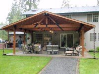 Backyard covered patio - large and beautiful photos. Photo ...