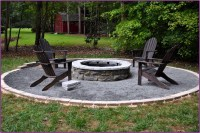 Backyard fire pit landscaping ideas - large and beautiful ...